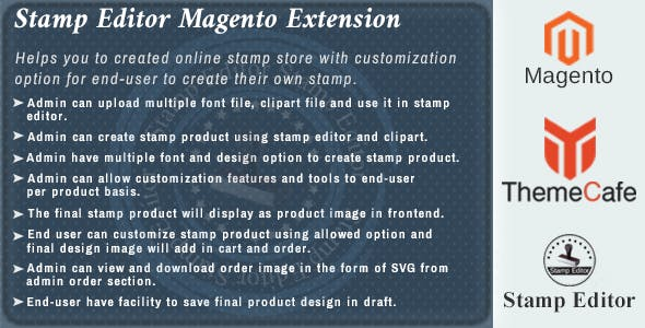 Stamp Editor Magento Extension