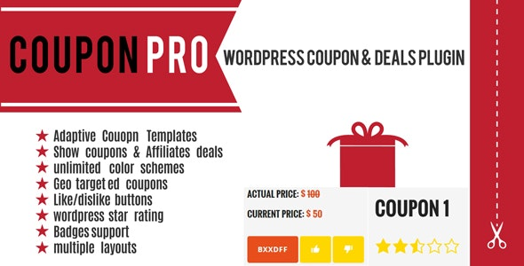 Coupon Pro: WordPress Coupon & Deals Plugin - CodeCanyon Item for Sale