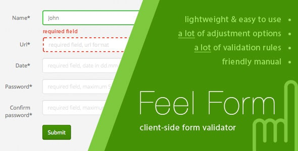 FeelForm - Client-Side Form Validator - CodeCanyon Item for Sale