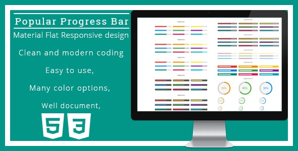 Popular Progress Bar - CodeCanyon Item for Sale