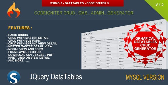Datatable Plugins, Code & Scripts from CodeCanyon