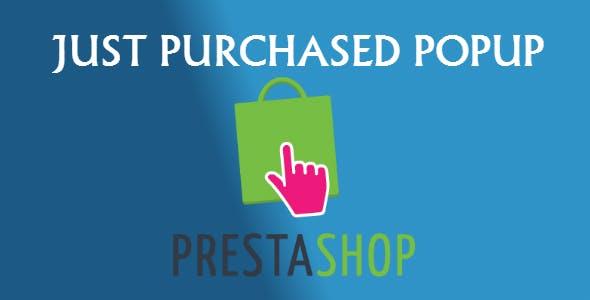 Just Purchased Popup - PrestaShop Module