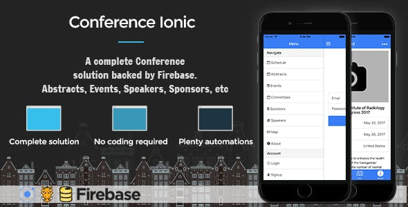 Conference Ionic 3 - Full Application with Firebase backend