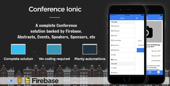 Conference Ionic 5 - Full Application with Firebase backend - CodeCanyon Item for Sale