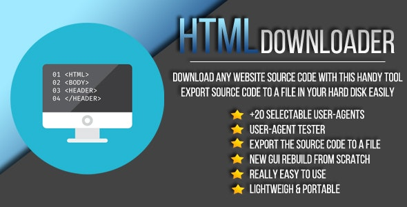 HTML Downloader + Source Code - CodeCanyon Item for Sale