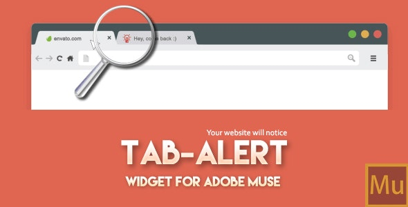 Tab Alert: Widget for Adobe Muse - CodeCanyon Item for Sale