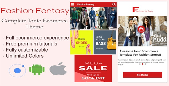 Fashion Fantasy - Ionic E-Commerce Template - CodeCanyon Item for Sale
