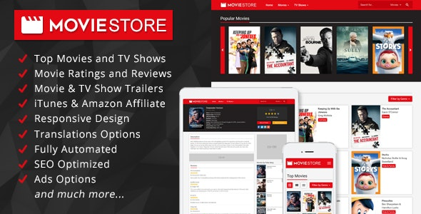 MovieStore - Movies and TV Shows Affiliate Script by
