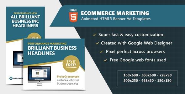 eCommerce Marketing Banners - Animated HTML5 GWD