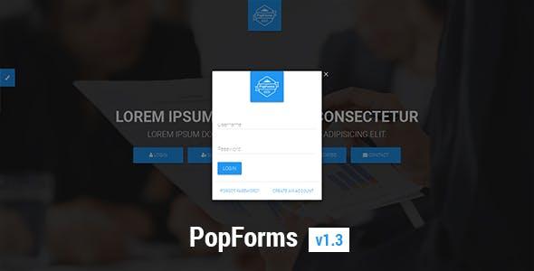 PopForms | Material Design Responsive Bootstrap Modal Form Set
