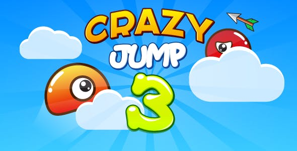 Crazy jump 3 - HTML5 game. Construct 2 (capx) + mobile + ADS