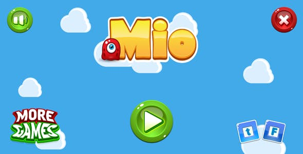 Mio - HTML5 game. Construct2 (.capx) + mobile
