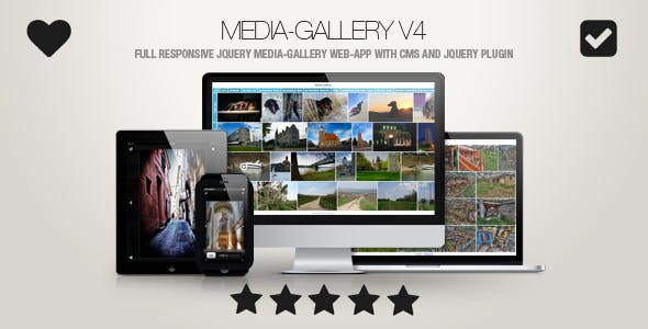 Media-Gallery - Touch-Enabled jQuery Image Gallery Web-App