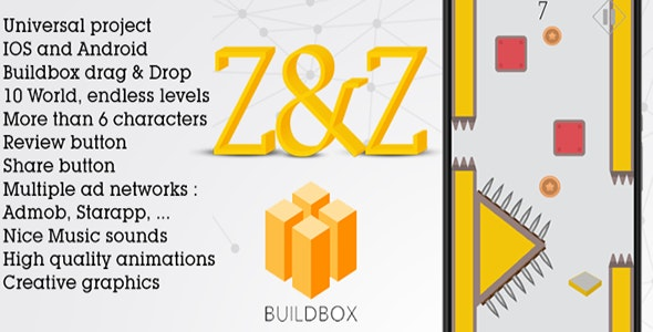 Z&Z : The Zig Zag Game Buildbox project - CodeCanyon Item for Sale