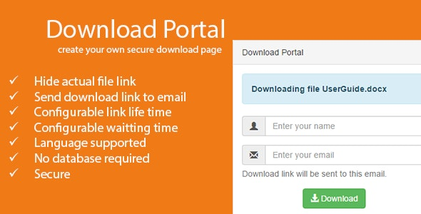 Download Portal - Create your own download page - CodeCanyon Item for Sale
