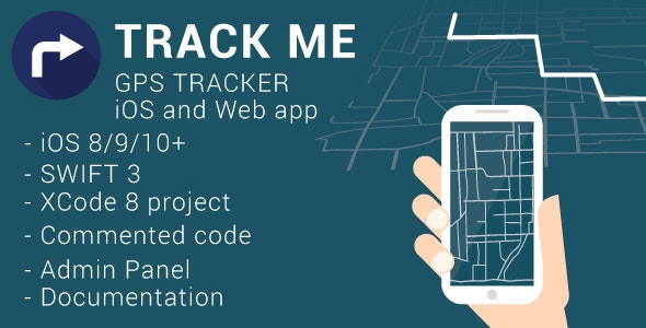 Track Me | iOS GPS Tracker (Swift) + Web Admin Panel by expanded
