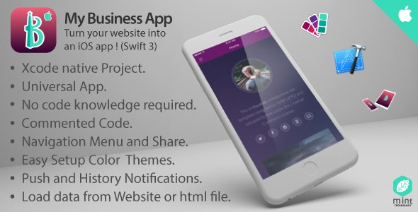 My Business App - Turn Your Website Into An iOS App ! by