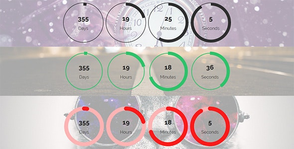 Coming - Responsive Circular Countdown timer by Pencil_Themes