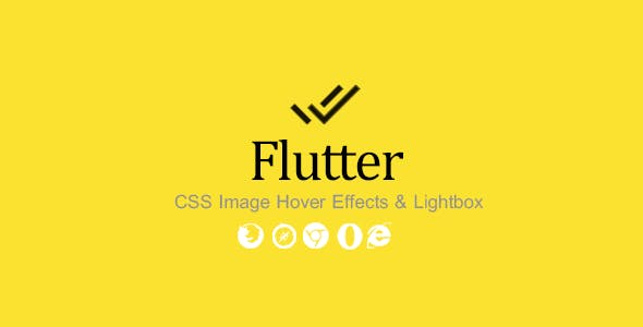 Flutter - CSS Image Hover Effects & Lightbox