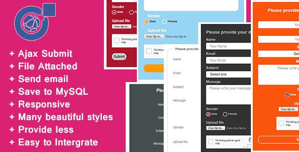 Responsive AJAX Contact Form - PHP, MySQL and Send Mail - CodeCanyon Item for Sale