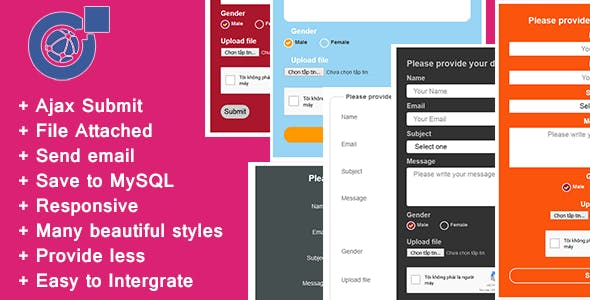 Responsive AJAX Contact Form - PHP, MySQL and Send Mail