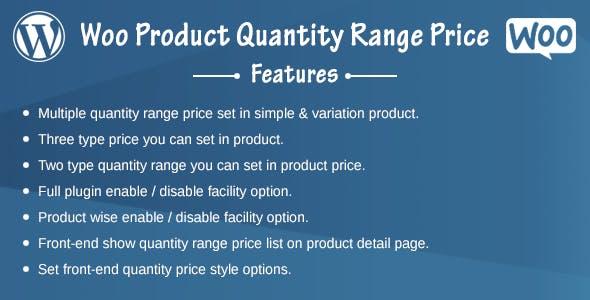 Woo Product Quantity Range Price