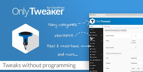 Only Tweaker for WordPress