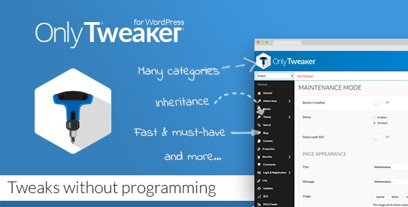 Only Tweaker for WordPress - CodeCanyon Item for Sale