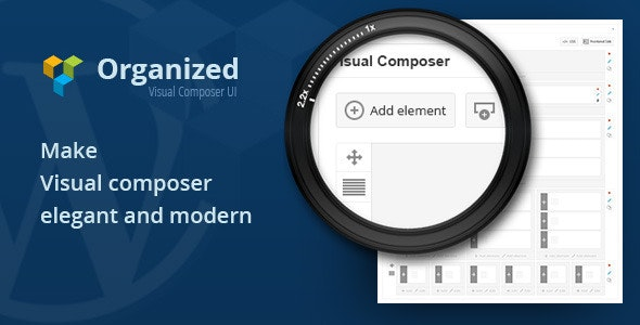 Organized - Visual Composer UI - CodeCanyon Item for Sale