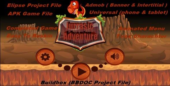 Jurrasic Adventure (Elipse,Buildbox,APK Project File