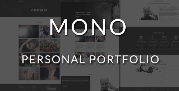 Mono - Personal portfolio Layers WP Stylekit
