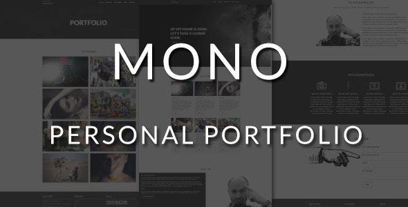 Mono - Personal portfolio Layers WP Stylekit - CodeCanyon Item for Sale