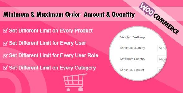 WooCommerce Minimum and Maximum Order Amount & Quantity