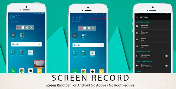 Make A Screen Recorder App With Mobile App Templates