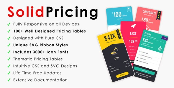 SolidPricing | Vertical & Horizontal Pricing Tables - CodeCanyon Item for Sale