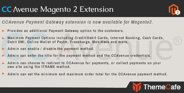 CCAvenue Payment Gateway Magento 2 Extension - CodeCanyon Item for Sale