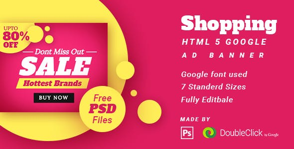 Shopping - HTML5 Animated Banner 14
