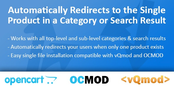 Single Product Redirect Module for OpenCart - CodeCanyon Item for Sale