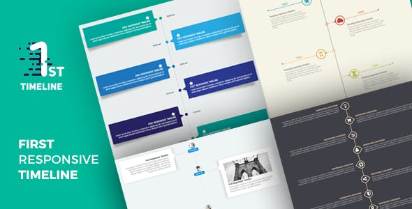 First - Responsive Timeline