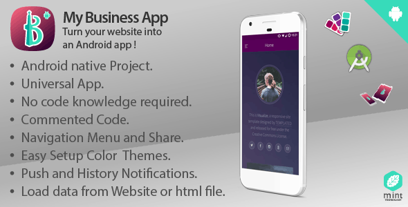 My Business App - Turn Your Website Into An Android App !