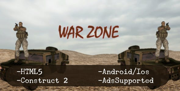 War Zone (HTML5 Game + Construct 2 CAPX)