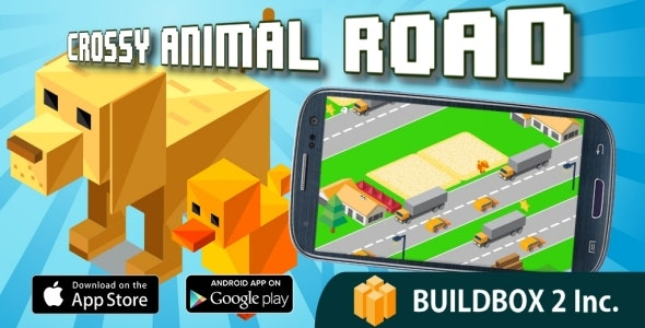 Crossy Animal Road - Crossy Road Clone - Buildbox 2 Game Template - CodeCanyon Item for Sale