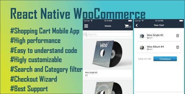 React Native Woo Commerce Mobile App - CodeCanyon Item for Sale