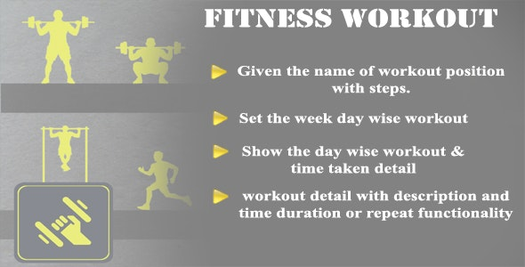 Workout Fitness Android Application Full Source code With ADMOB - CodeCanyon Item for Sale