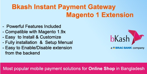 Bkash Instant Payment Gateway Magento 1 Extension - CodeCanyon Item for Sale