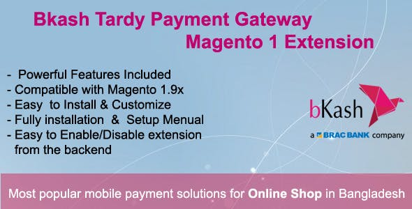 Bkash Tardy Payment Gateway Magento1 Extension