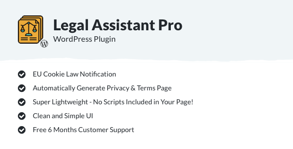 Legal Assistant Pro - EU Cookie Law, Terms & Privacy Generator