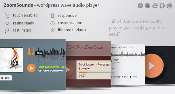 ZoomSounds - WordPress Visual Composer Waveform Audio Player - CodeCanyon Item for Sale