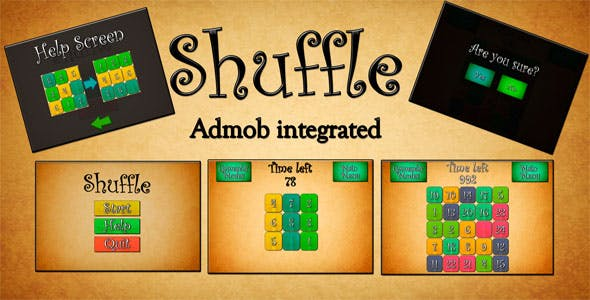 Slide Puzzle Unity3D Source Code + Android & iOS Deployment + Admob integrated
