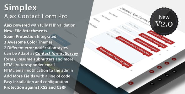 Simplex Ajax Contact Form Pro